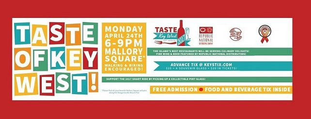 April 24, 2017: The 22nd Annual TASTE OF KEY WEST 2017